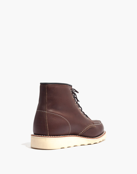 Red Wing® 6-Inch Moc Lace-Up Boots in mahogany image 4