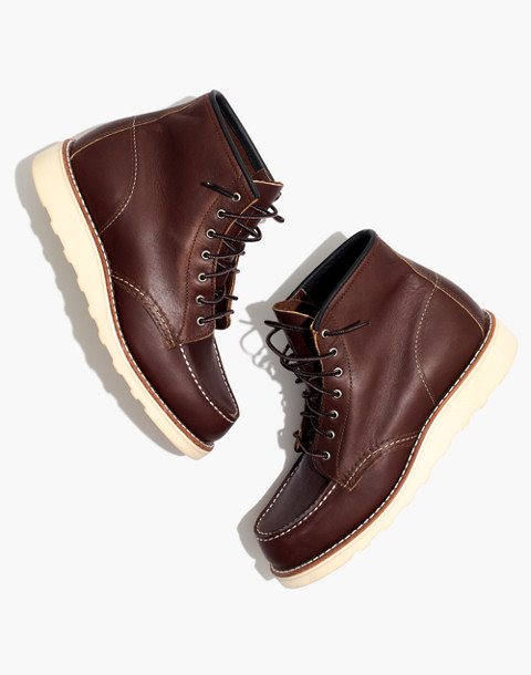 Red Wing® 6-Inch Moc Lace-Up Boots in mahogany image 1