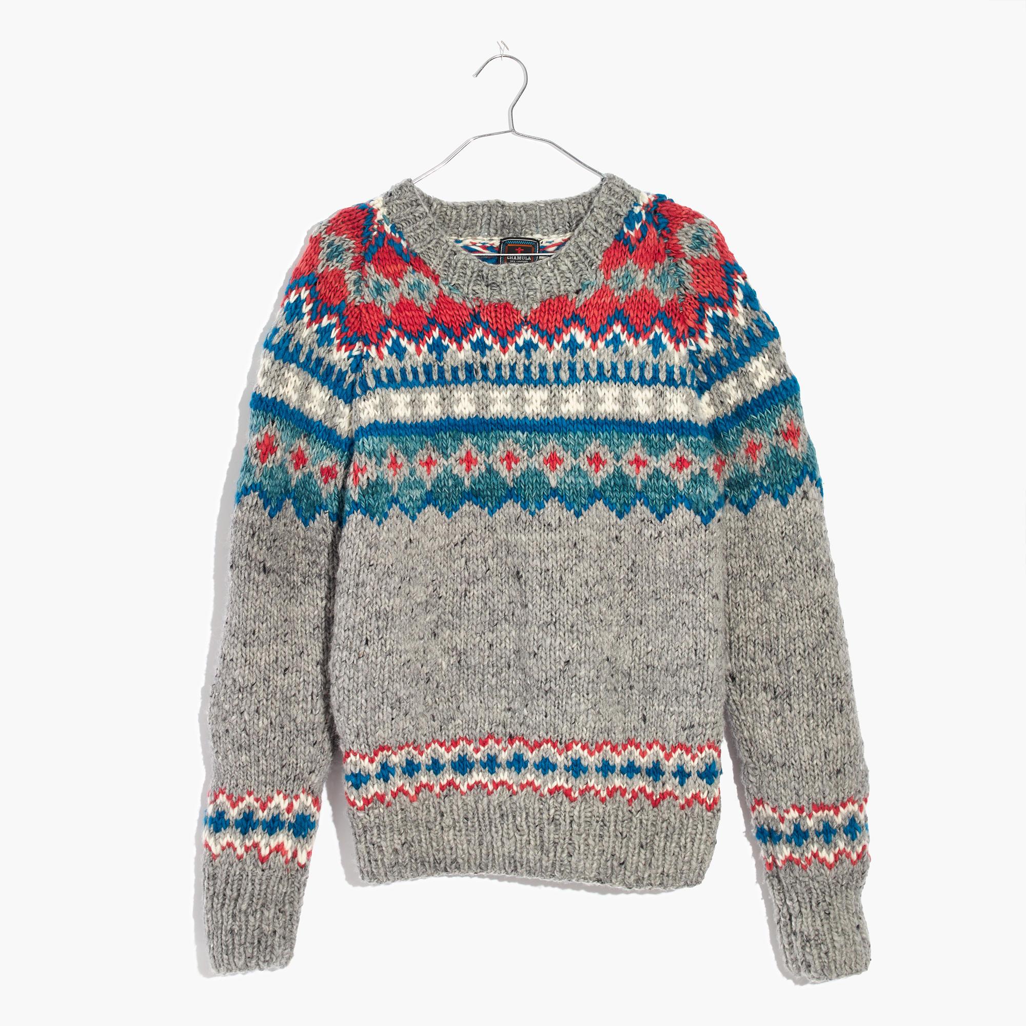 Chamula™ Fair Isle Pullover Sweater : Men chamula | Madewell