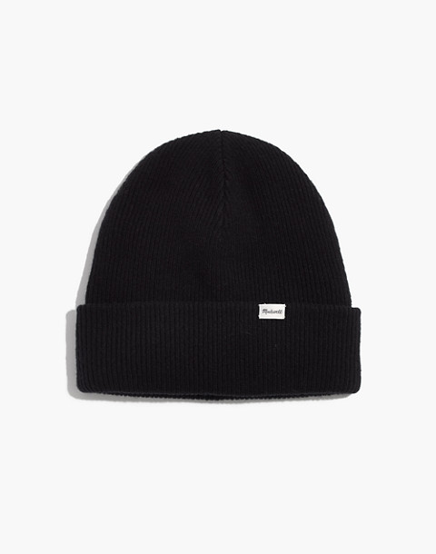 Cuffed Beanie in true black image 1