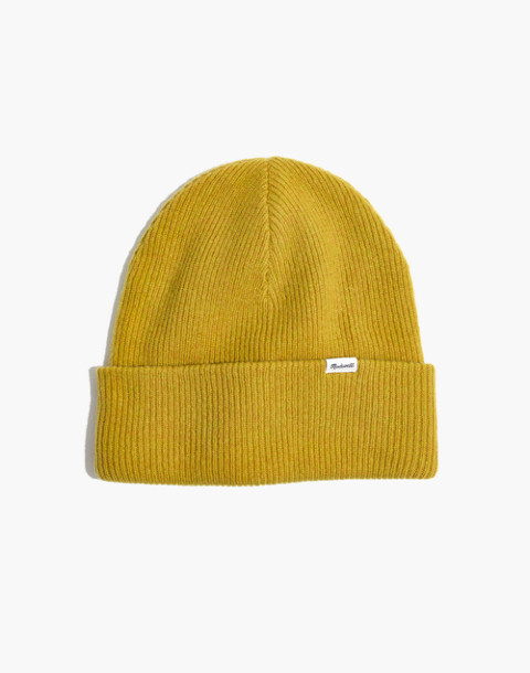 Cuffed Beanie in vintage chartreuse image 1