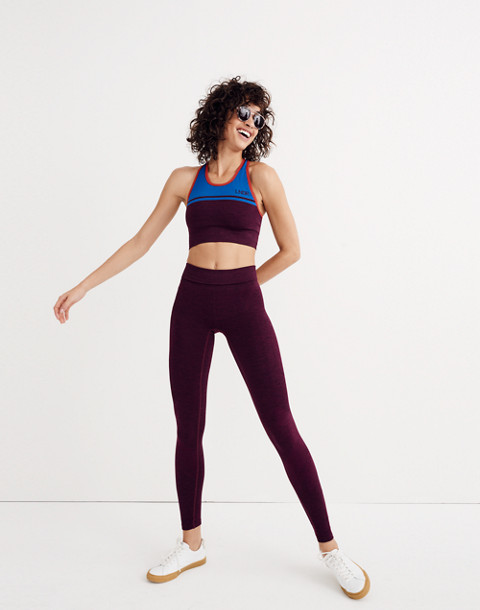 LNDR™ Eight Eight Leggings in burgundy marl image 2