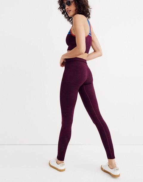 LNDR™ Eight Eight Leggings in burgundy marl image 1