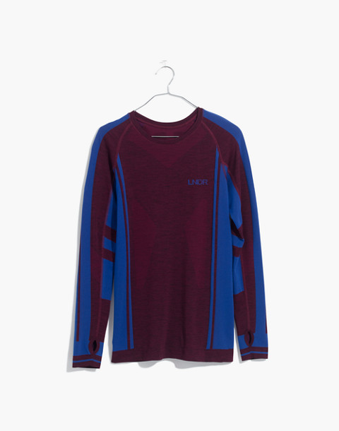LNDR™ Colours Long-Sleeve Sports Top in burgundy marl image 4