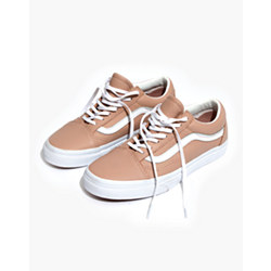 Vans® Unisex Old Skool Lace-Up Sneakers in Pink Leather