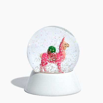 Cody Foster™ Pink Llama Snow Globe