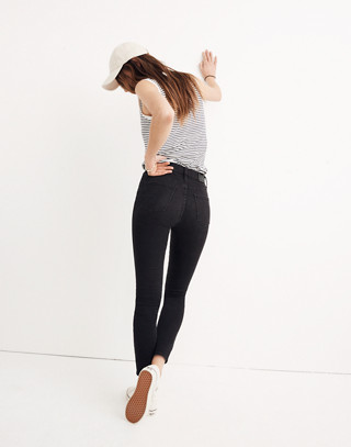 "Tall 9"" High-Rise Skinny Jeans in Lunar in lunar wash image 3"