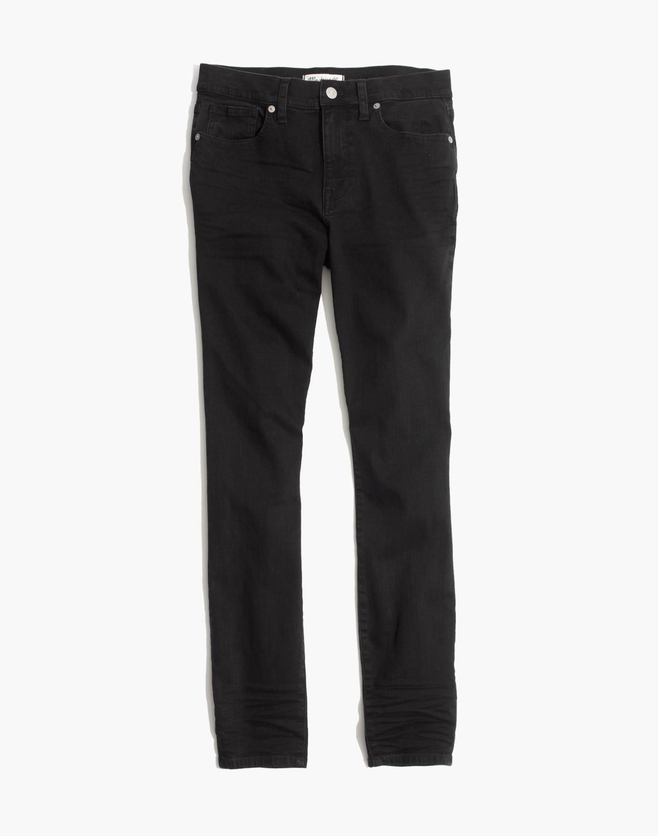 "Petite 9"" High-Rise Skinny Jeans in Lunar in lunar wash image 4"