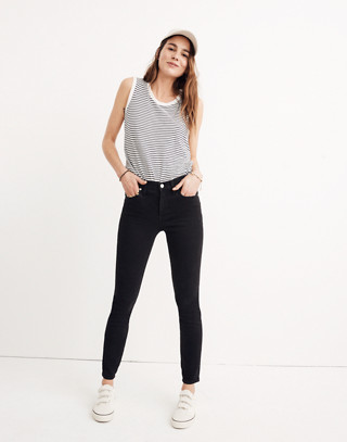 "Tall 9"" High-Rise Skinny Jeans in Lunar in lunar wash image 1"