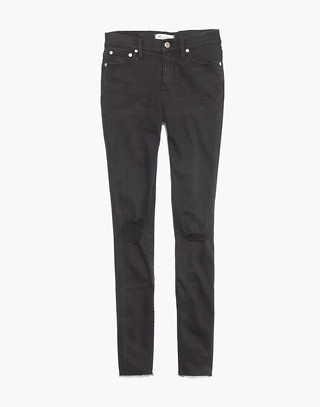 "9"" High-Rise Skinny Jeans in Black Sea in black sea image 4"