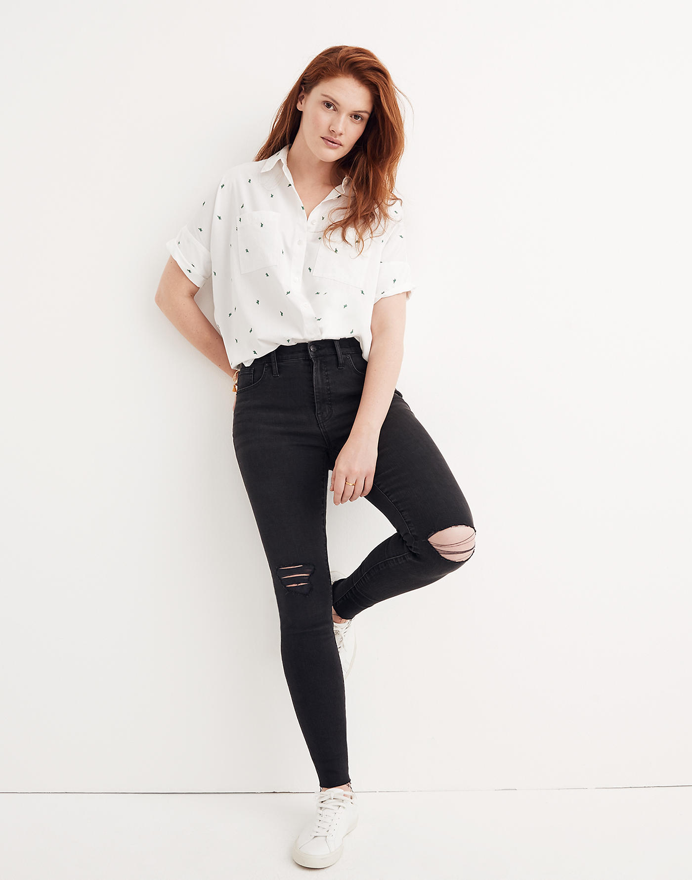 Madewell 9 Mid-Rise Skinny Jeans in Black Sea