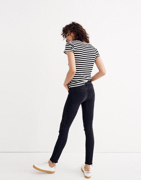 "Tall 9"" High-Rise Skinny Jeans in Black Sea in black sea image 2"