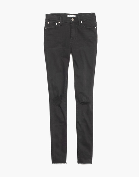 "Tall 9"" High-Rise Skinny Jeans in Black Sea"