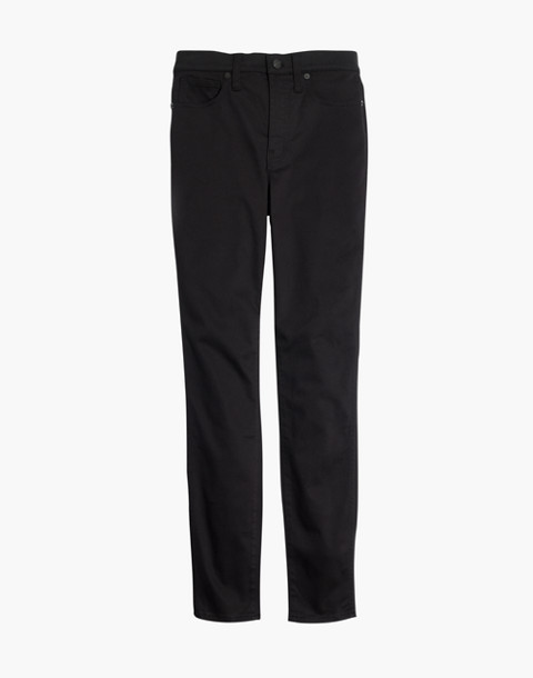 "Tall 10"" High-Rise Skinny Sateen Jeans in true black image 4"