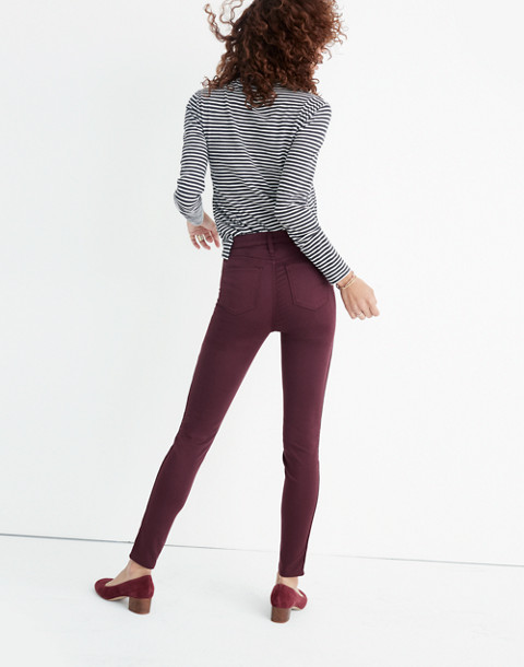 "Taller 10"" High-Rise Skinny Sateen Jeans in deep plum image 3"