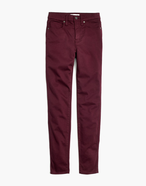 "Taller 10"" High-Rise Skinny Sateen Jeans in deep plum image 4"