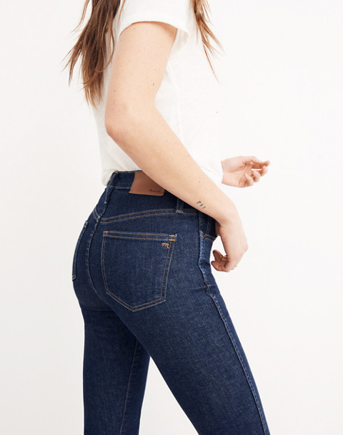 "Petite 10"" High-Rise Skinny Jeans in Lucille Wash in lucille wash image 3"