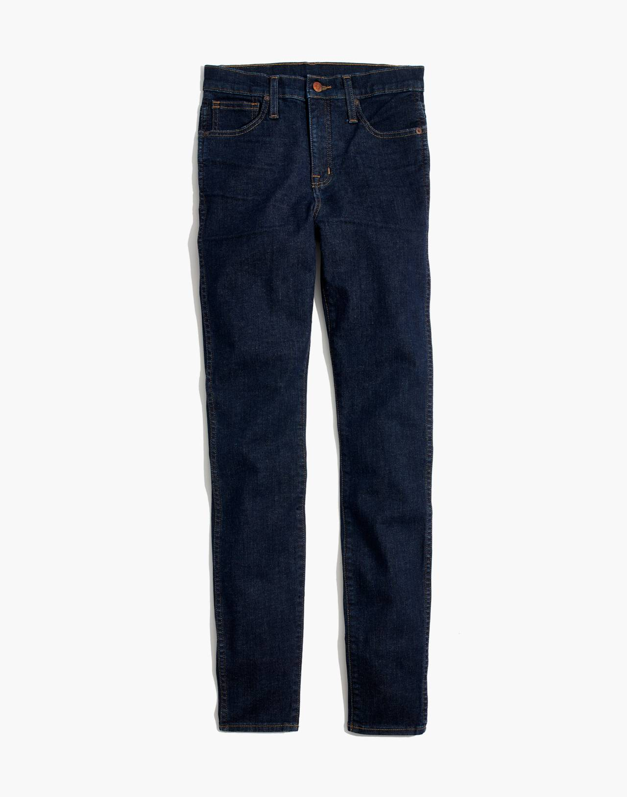 "Petite 10"" High-Rise Skinny Jeans in Lucille Wash in lucille wash image 4"