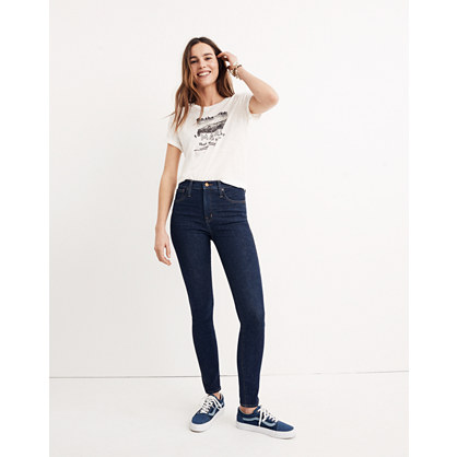 "Short 10"" High-Rise Skinny Jeans in Lucille Wash"
