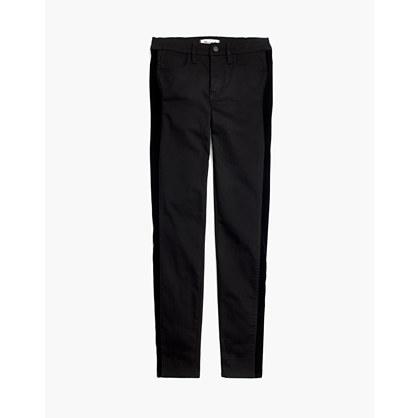 """9"""" High-Rise Skinny Jeans: Velvet Tuxedo Stripe Edition"""