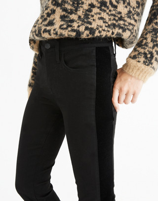 """Tall 9"""" High-Rise Skinny Jeans: Velvet Tuxedo Stripe Edition in esther wash image 2"""