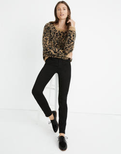 "Tall 9"" High-Rise Skinny Jeans: Velvet Tuxedo Stripe Edition"