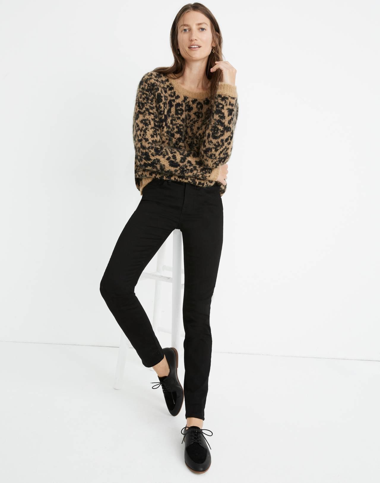 """9"""" High-Rise Skinny Jeans: Velvet Tuxedo Stripe Edition in esther wash image 1"""