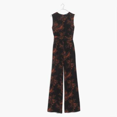 Madewell x No.6 Silk Isabella Jumpsuit in Etched Floral