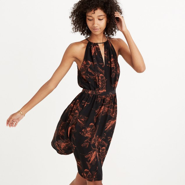 Madewell x No.6 Silk Keyhole Dress in Etched Floral : shopmadewell ...