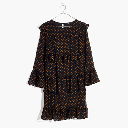 Waterlily Ruffle Dress in Heart Flip