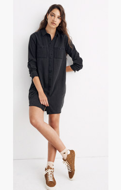 Black Denim Shirtdress