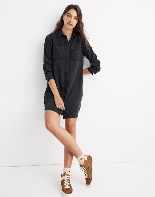 277c830231d Black Denim Shirtdress in colton wash image 1