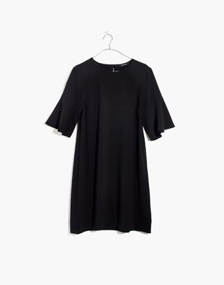 Flutter-Sleeve Mini Dress in true black image 4