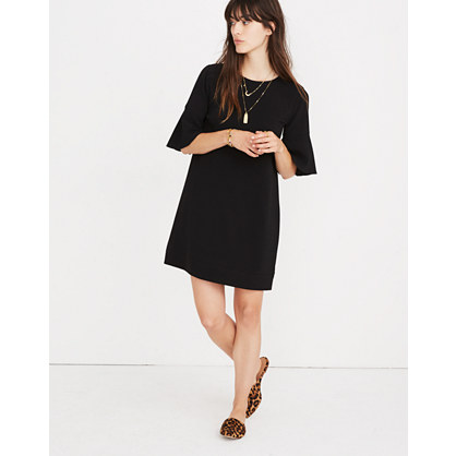 Flutter-Sleeve Mini Dress