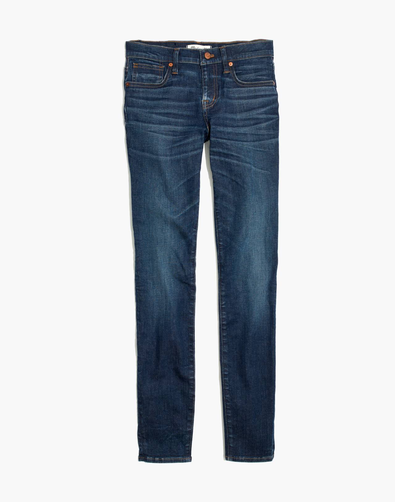 "Petite 8"" Skinny Jeans in Ames Wash in ames wash image 4"