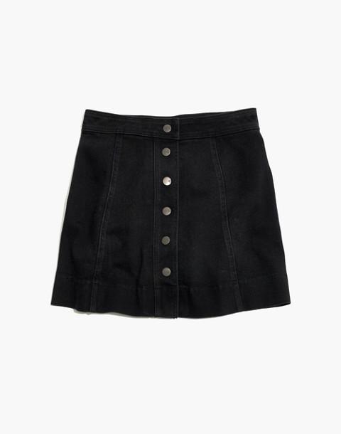 Metropolis Snap Jean Skirt in Rawley Black in rawley wash image 4