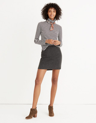 Shirttail Mini Skirt