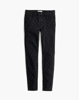 "Taller 9"" High-Rise Skinny Jeans: Metallic Dot Edition"