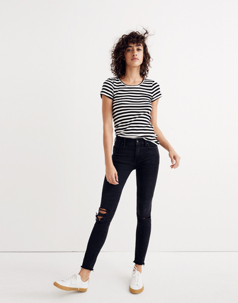 "Taller 9"" High-Rise Skinny Jeans in Black Sea"