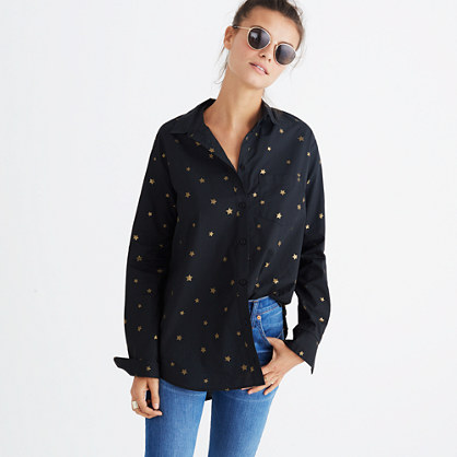 Oversized Ex-Boyfriend Shirt in Star Mix