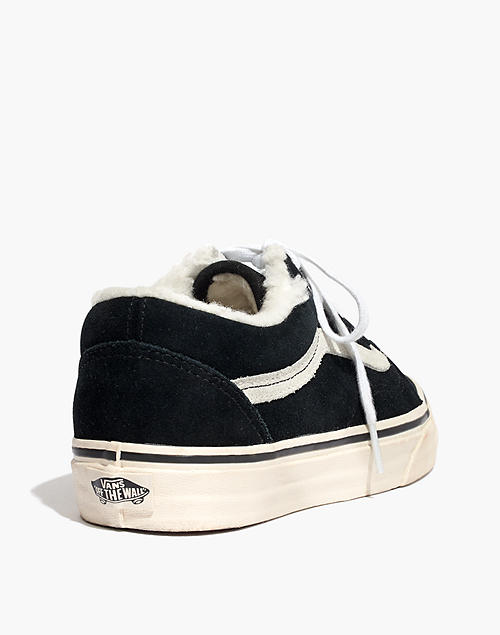 1e775c20b17b1c Madewell x Vans reg  Unisex Old Skool Sneakers in Suede and Sherpa in black  ...