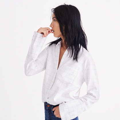 Pre-order Flannel Oversized Ex-Boyfriend Shirt in Windowpane