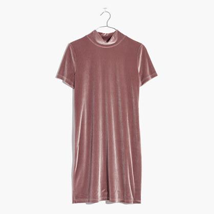 Velvet Mockneck Dress