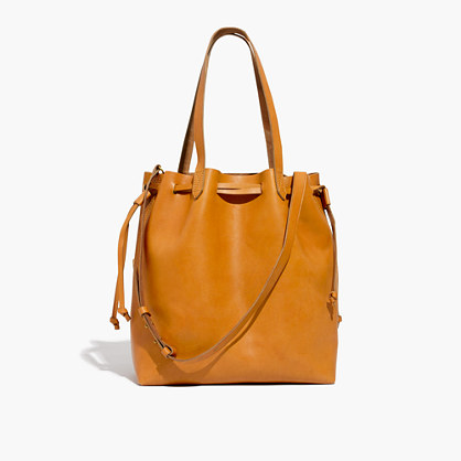 The Medium Drawstring Transport Tote in Cider