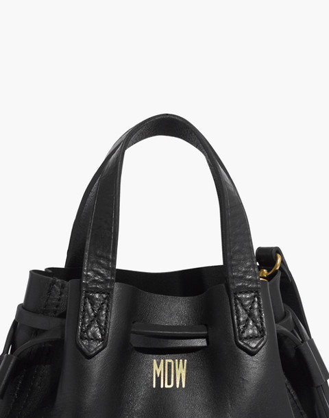 The Small Drawstring Transport Crossbody in true black image 3