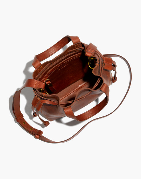 The Small Drawstring Transport Crossbody in english saddle image 3