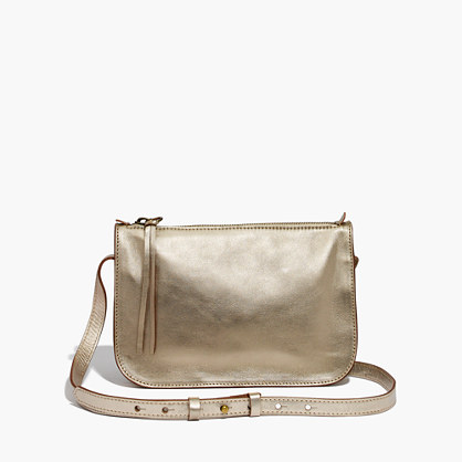 The Simple Crossbody Bag in Metallic
