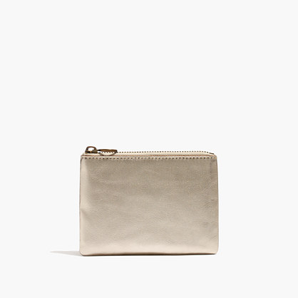 The Leather Pouch Wallet in Metallic