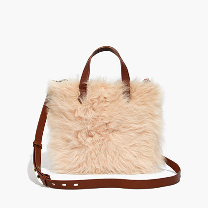 The Small Transport Crossbody in Shearling