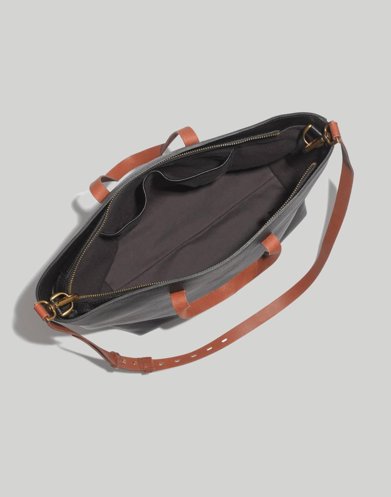 The Zip-Top Transport Carryall in true black brown image 2